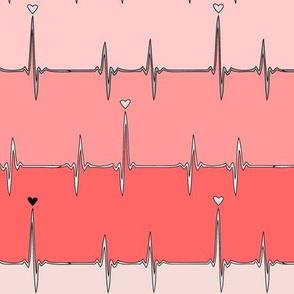 heartbeat in pink stripes