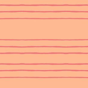simple stripes peach