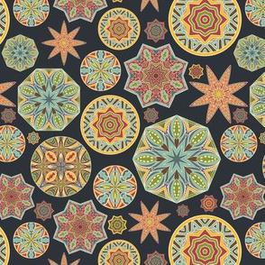 Tribal Stylized Snowflakes