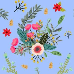 Blue Boho Floral