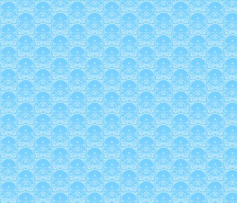 Ice Skulls fabric by jadegordon on Spoonflower - custom fabric