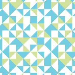 Geometric-pastel blues
