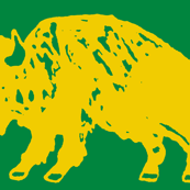 Bison Print - Green & Gold