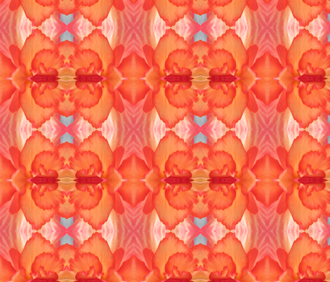 Red_Begonia Luxury fabric by elise_camp on Spoonflower - custom fabric