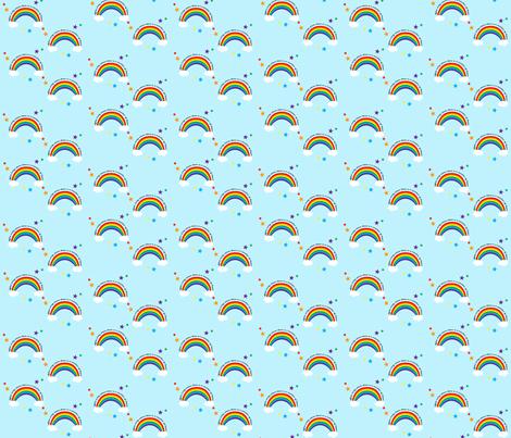 Rainbow Baby fabric by tinypeach on Spoonflower - custom fabric