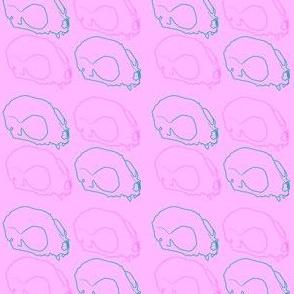 Pastel Cat Skulls