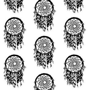 dreamcatcher // southwest baby black and white feathers
