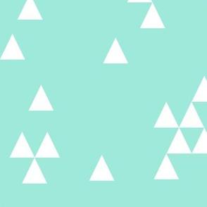 triangles // simple mint bright girly mint tri
