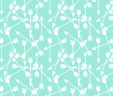 arrows // mint girly fresh bright mint kids girls room fabric decor fabric by andrea_lauren on Spoonflower - custom fabric