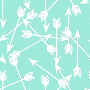 arrows // mint girly fresh bright mint kids girls room fabric decor