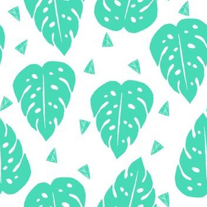 monstera // kids tropical summer palm print tropical trend