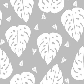 monstera leaf // tropical palm print kids summer palm print trend
