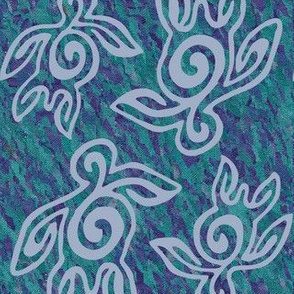 NEW-Spirit-of-the-Sea-vector-6x7inch-FULLSIZE-SEATURTLES150-CALblgrey-mauveforestgreenbatik-FULLSIZE