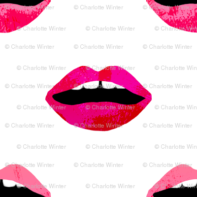 love lipstick pink and red lipstick lips valentines beauty makeup print