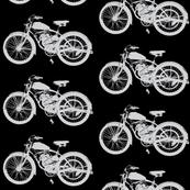 """Vintage Motorcycles in Grey & Black (4"""")"""