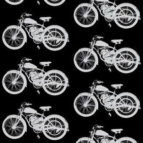 Grey Vintage Motorbikes // Large