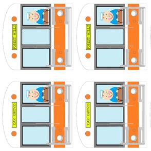 "Boston subway MBTA ""T"" orange line trains tea towel sized for fat quarter tea towelMBTA ""T"""