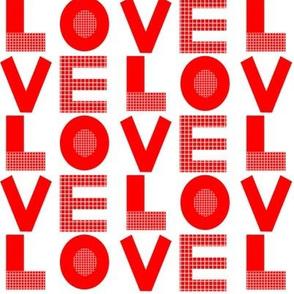 love typography red and white minimal kids leggings organic fabric