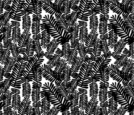 tropical leaves black and white kids nursery baby palm