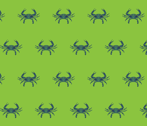 Stencil Crab large fabric by chesapeaketess on Spoonflower - custom fabric