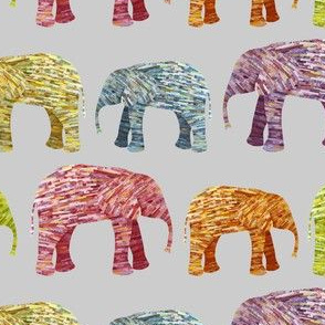 Bright Elephant Collage
