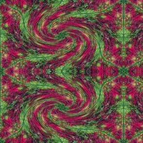 Leaf Hexagon Swirly Swirl 1