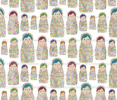 Rainbow Russian Matryoshka Nesting Dolls