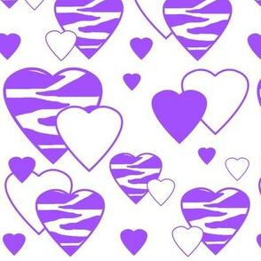 Purple Zebra Heart Animal Print