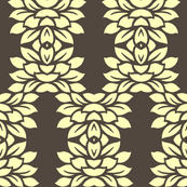 Brown and Cream Floral Grid