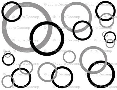 Black Grey Gray Geometric Circle
