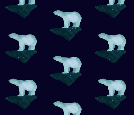 Polar Bears (big) fabric by arts_and_herbs on Spoonflower - custom fabric