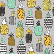 Pineapple Geometric on Grey