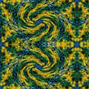 Leaf Hexagon Swirly Swirl 2
