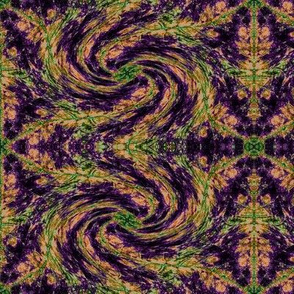 Leaf Hexagon Swirly Swirl 6