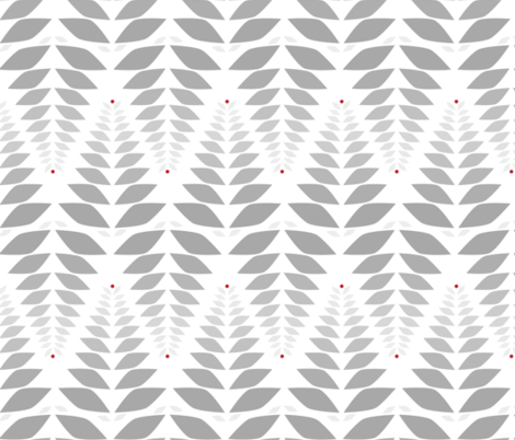 grey leaves fabric by eleventy-five on Spoonflower - custom fabric
