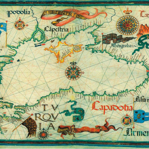 "1559 Black Sea Map (27""W)"