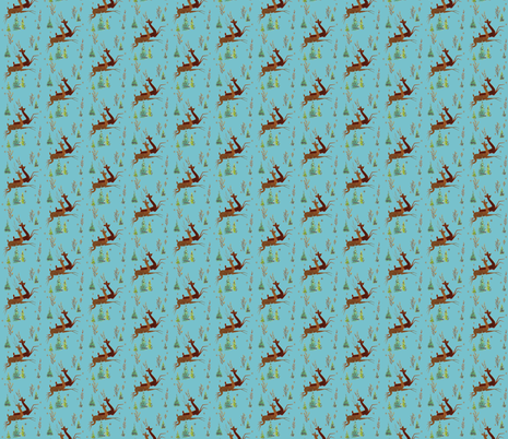 Leaping Reindeer fabric by hollywood_royalty on Spoonflower - custom fabric
