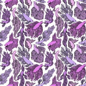 Purple Beta Fish