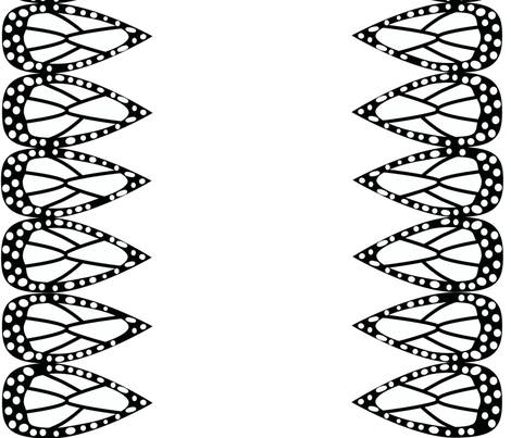 Black and White Monarch Butterfly fabric by ellegarrettdesigns on Spoonflower - custom fabric
