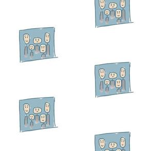Family Portrait - blue