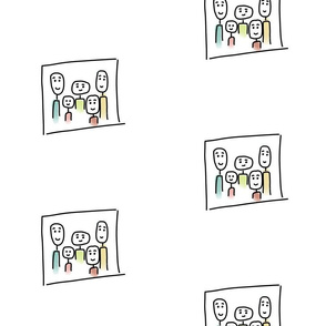 Family Portrait - bw color