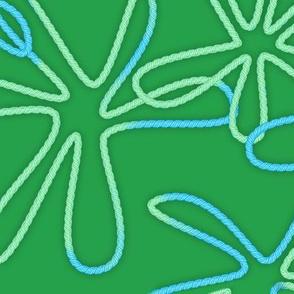 Green Yarn Splatters