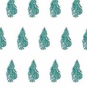 Regency Curled Fern Blue&Green