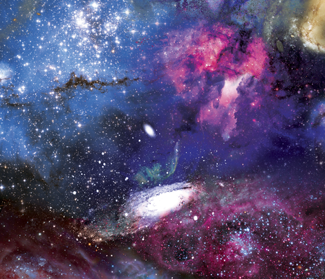 Galactic Dreams fabric by xoxotique on Spoonflower - custom fabric