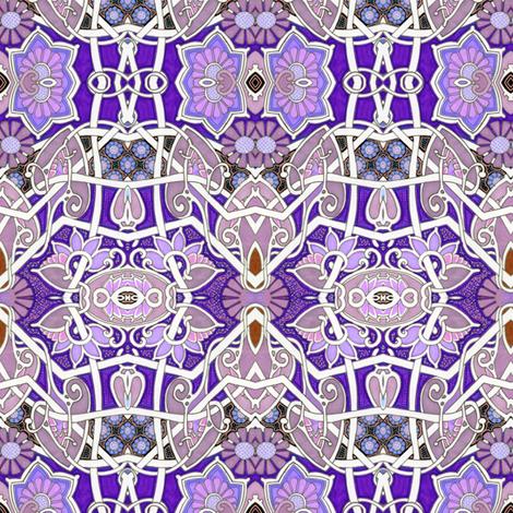 Purple Heart Geometry fabric by edsel2084 on Spoonflower - custom fabric