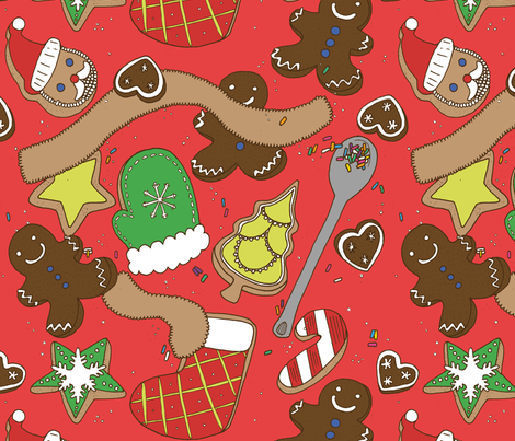 Christmas cookies fabric by knil on Spoonflower - custom fabric