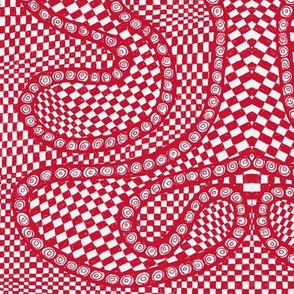 red and white buffalo gingham