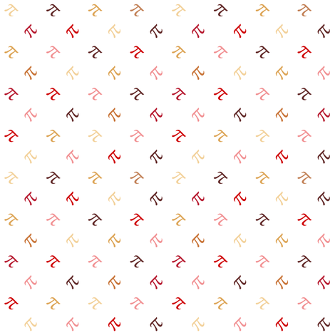 cherry pi diamonds on white fabric by weavingmajor on Spoonflower - custom fabric