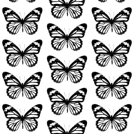Small Butterflies  fabric by thinlinetextiles on Spoonflower - custom fabric