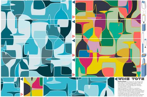 A Gift of Wine fabric by seesawboomerang on Spoonflower - custom fabric
